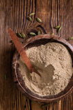 Cardamon Powder on wood Stock Image