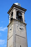 Cardano campo  old  tower bell sunny day Royalty Free Stock Photo