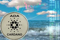 The Cardano coin royalty free stock images