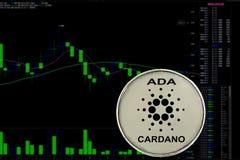 Cardano cryptocurrency монетки стоковые фотографии rf