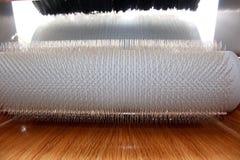 Cardatrice del tamburo della lana fotografie stock