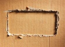 Cardboad acanalado Fotos de archivo libres de regalías