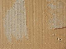 Cardboad acanalado Fotografía de archivo