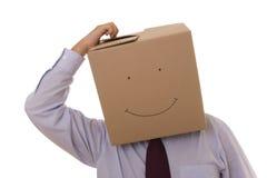 Cardboad businessman face Stock Photos
