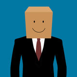 Cardboad businessman with a smile face Stock Photography