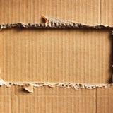 Cardboad ondulé Image libre de droits