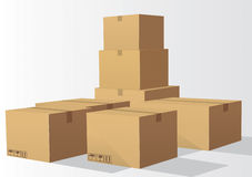 Cardboard. Box Vector Drawing 1 Vector Illustration