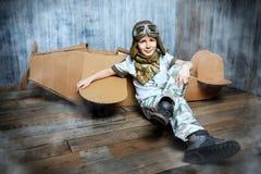 Cardboard Airplane Stock Photo