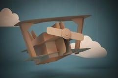 Cardboard airplane Stock Image