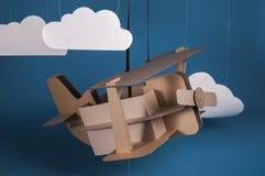 Cardboard airplane Royalty Free Stock Image