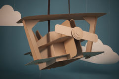 Cardboard airplane Royalty Free Stock Photography