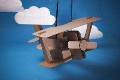 Cardboard airplane Stock Photography
