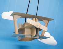 Cardboard airplane Stock Images