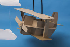 Cardboard airplane Royalty Free Stock Photo