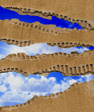 Cardboard And Sky Royalty Free Stock Photography