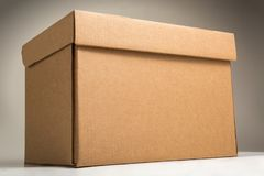 Cardboard archive storage box royalty free stock image