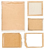 Cardboard background frames. Rough cardboard frames for use as backgrounds Royalty Free Stock Photos