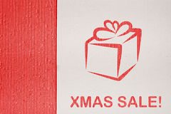 Cardboard background series - christmas sale Royalty Free Stock Photography