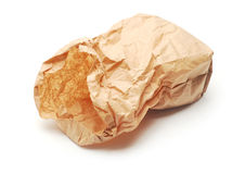 Cardboard bag Royalty Free Stock Images