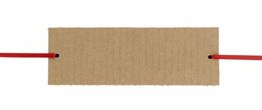 Cardboard banner Stock Images