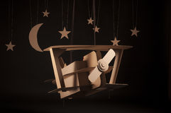 Cardboard biplane Stock Photography