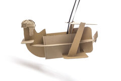 Cardboard biplane Stock Images