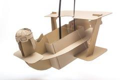 Cardboard biplane Royalty Free Stock Image