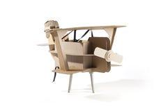 Cardboard biplane Stock Photos