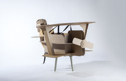 Cardboard biplane Royalty Free Stock Photo