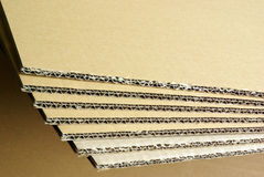 Cardboard blades Royalty Free Stock Photos