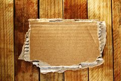Cardboard on boards Stock Photography
