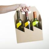Cardboard bottle carrier Royalty Free Stock Photos