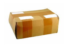 A cardboard box 01. Closed cardboard package. First from the series royalty free stock photo