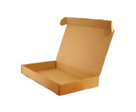 A cardboard box 02. Open cardboard package. Second from the series royalty free stock image