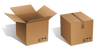 Cardboard box Royalty Free Stock Photos