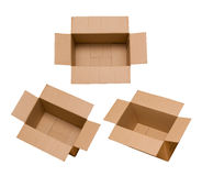 Cardboard box isolated on white background Royalty Free Stock Photo