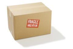 Cardboard box. Closed cardboard box on white background Stock Photo
