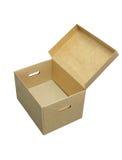 Cardboard box. Isolated on white background Stock Images