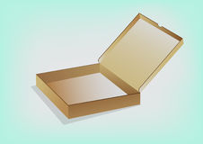 Cardboard box. Open packing cardboard box  for packing pizza Royalty Free Stock Images
