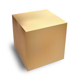 Cardboard box. With shadow, there is no text on the box... it is blank so you can putt your own Stock Photo