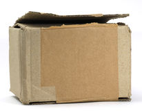 Cardboard box. Closed cardboard box on white background Stock Images