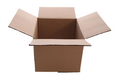 Cardboard box. Isolated with clipping path Royalty Free Stock Photography