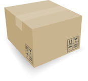 Cardboard box. Board boxe, with EPS files Royalty Free Stock Photo