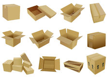 Cardboard box. Board box,with EPS files Stock Photography