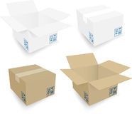 Cardboard box. Board boxes, with EPS files Stock Image