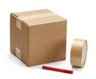 Cardboard Box And Packaging Royalty Free Stock Photo