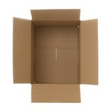 Cardboard box ariel Royalty Free Stock Photography