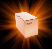 Cardboard box on black background Stock Image