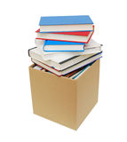 Cardboard box and books Royalty Free Stock Photo