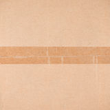 Cardboard box close-up Stock Images